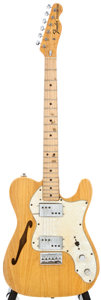 Musical Instruments:Electric Guitars, 1972 Fender Telecaster Thinline Natural Electric Guitar,#368129....