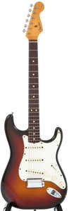 Musical Instruments:Electric Guitars, 1983 Fender Stratocaster Sunburst Electric Guitar, #V010924....