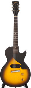 Musical Instruments:Electric Guitars, 1956 Gibson Les Paul Jr. Sunburst Electric Guitar, #615489....