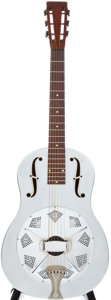 Musical Instruments:Resonator Guitars, 1930 National Duolian Silver Resonator Guitar, #C37771....