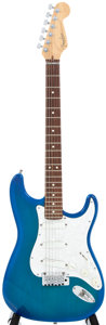 Musical Instruments:Electric Guitars, 1996 Fender Stratocaster Blue Burst Electric Guitar, #N6132970....