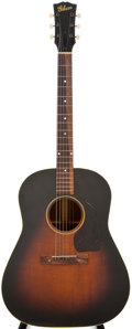 Musical Instruments:Acoustic Guitars, Late 1940s Gibson J-45 Sunburst Acoustic Guitar, #N/A....