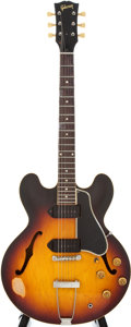Musical Instruments:Electric Guitars, 1959 Gibson ES-330TD Sunburst Electric Semi-Hollow Body Guitar,#S1029....