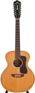 Musical Instruments:Acoustic Guitars, 1977 Guild F212NT natural Acoustic Guitar, #151394....