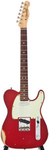 Musical Instruments:Electric Guitars, 2008 Fender 1963 Relic Telecaster Red Electric Guitar, #R34639....