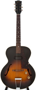 Musical Instruments:Electric Guitars, 1951 Gibson ES125 Sunburst Archtop Electric Guitar, #784021....