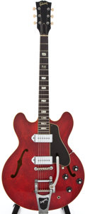 Musical Instruments:Electric Guitars, 1967 Gibson ES330 Cherry Semi-Hollow Body Electric Guitar,#094307....