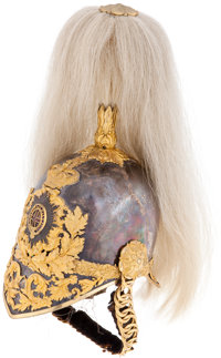 Victorian British Army Officer's 1847 pattern Parade Helmet from the Life Guards, Household Cavalry c. 1871