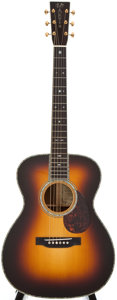 Musical Instruments:Acoustic Guitars, 2001 Martin OM-45GE Sunburst Acoustic Guitar, #826245E....