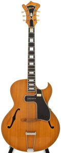 Musical Instruments:Electric Guitars, 1950 Gibson L-4-C Natural Semi-Hollow Body Electric Guitar,#A-5742....