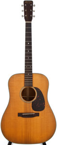 Musical Instruments:Acoustic Guitars, 1964 Martin D-18 Natural Acoustic Guitar, #196528....