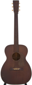 Musical Instruments:Acoustic Guitars, 1945 Martin 00-17 Natural Acoustic Guitar, #91165....