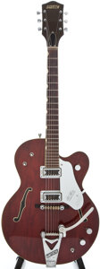 Musical Instruments:Electric Guitars, 1963 Gretsch Tennessean Burgundy Semi-Hollow Body Electric Guitar,#62374....