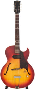 Musical Instruments:Electric Guitars, 1960 Gibson ES125 TC Cherry Sunburst Semi-Hollow Body ElectricGuitar, #R673132....