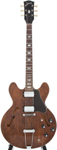 Musical Instruments:Electric Guitars, Early Gibson ES335 TD Walnut Semi-Hollow Body Electric Guitar,#108002....