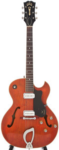 Musical Instruments:Electric Guitars, 1960 Guild Starfire II Faded Cherry Semi-Hollow Body ElectricGuitar, #14251....
