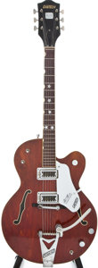 Musical Instruments:Electric Guitars, 1967 Gretsch Tennessean Burgundy Semi-Hollow Body Electric Guitar,#37419....