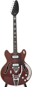 Musical Instruments:Electric Guitars, Late 1960s Vox UltraSonic Red Semi-Hollow Body Electric Guitar,#398505....