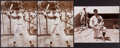 Baseball Collectibles:Photos, Joe DiMaggio Signed Oversized Photographs Lot of 3....