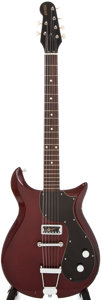 Musical Instruments:Electric Guitars, 1970 Gretsch Corvette Burgundy Solid Body Electric Guitar, #79147....