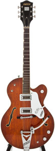 Musical Instruments:Electric Guitars, 1967 Gretsch Tennessean Burgundy Semi-Hollow Body Electric Guitar,#127284....