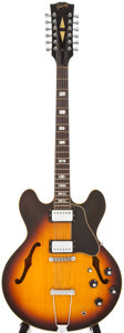 Musical Instruments:Electric Guitars, 1968 Gibson ES 335-12 Sunburst 12 String Semi-Hollow Body ElectricGuitar, #517902....