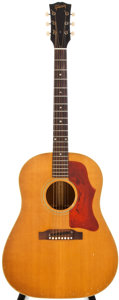 Musical Instruments:Acoustic Guitars, 1965 Gibson J-50 Natural Acoustic Guitar, #255291....