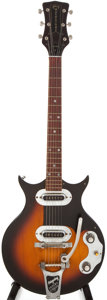 Musical Instruments:Electric Guitars, Late 1950s Magnatone Mark V Sunburst Electric Guitar, #54381....