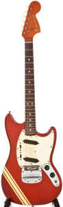 Musical Instruments:Electric Guitars, 1968 Fender Mustang Candy Apple Red Electric Guitar, #263709....