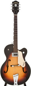 Musical Instruments:Electric Guitars, 1962 Gretsch Anniversary Sunburst Semi-Hollow Body Electric Guitar,#48879....