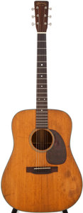 Musical Instruments:Acoustic Guitars, 1955 Martin D-18 Natural Acoustic Guitar, #141470....
