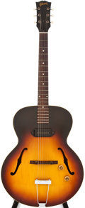 Musical Instruments:Acoustic Guitars, 1959 Gibson 125 Sunburst Archtop Electric Guitar, #S85123....
