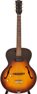 Musical Instruments:Acoustic Guitars, 1964-65 Gibson 125 Left Handed Sunburst Archtop Electric Guitar,#174455....