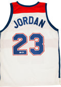 Basketball Collectibles:Uniforms, Michael Jordan Signed Throwback Jersey....