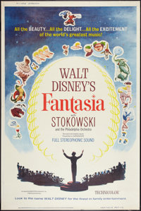 "Fantasia (Buena Vista, R-1963). Poster (40"" X 60""). Animation"