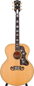 Musical Instruments:Acoustic Guitars, 1998 Gibson J-200 Elite Natural Acoustic Guitar, #93458051....