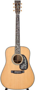 Musical Instruments:Acoustic Guitars, 2002 Martin D-50 Natural Acoustic Guitar, #881359....