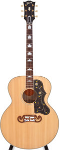Musical Instruments:Acoustic Guitars, 2008 Gibson SJ-200 Natural Acoustic Guitar, #01081079....