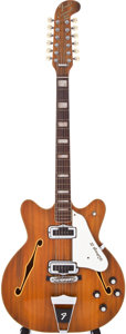 Musical Instruments:Electric Guitars, 1968 Fender Coronado XII Wildwood 12 String Semi-Hollow BodyElectric Guitar, #219312....