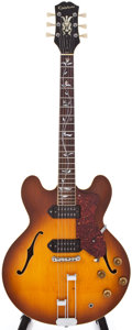 Musical Instruments:Electric Guitars, 1961 Epiphone Casino Sunburst Semi-Hollow Body Electric Guitar,#30061....