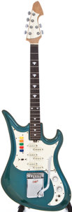 Musical Instruments:Electric Guitars, 1960s Teisco Spectrum V Teal Metallic Electric Guitar, #N/A....