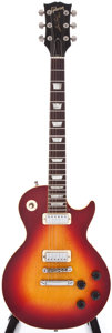 Musical Instruments:Electric Guitars, 1972 Gibson Les Paul Deluxe Cherry Sunburst Electric Guitar,#679387....