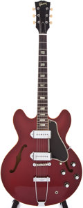 Musical Instruments:Electric Guitars, 1966 Gibson ES330 Sparkling Burgundy Semi-Hollow Body Electric Guitar, #855431....