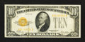 Small Size:Gold Certificates, Fr. 2400 $10 1928 Gold Certificate. Very Fine+. ...