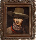 Movie/TV Memorabilia:Original Art, An Oil Painting by John Decker, 1945....
