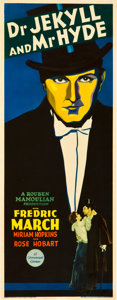 "Movie Posters:Horror, Dr. Jekyll and Mr. Hyde (Paramount, 1931). Insert (14"" X 36"").. ..."