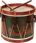 Military & Patriotic:Civil War, Civil War Period or Earlier Eagle Snare Drum with Original Sticks for Military Academy or Boy's School....