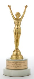 Movie/TV Memorabilia:Memorabilia, A Trophy, 1961....