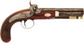"Military & Patriotic:Pre-Civil War, C. 1845 English Percussion Belt Pistol Marked ""St. Louis"" on the Top Flat of the Barrel...."
