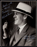 """Baseball Collectibles:Photos, Charlie Grimm Signed Original """"George Burke"""" Photograph...."""